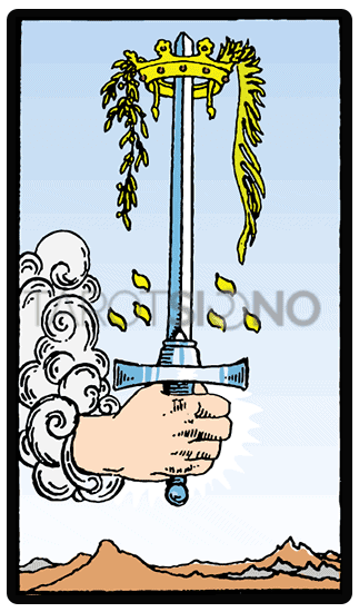 As de Espadas Tarot