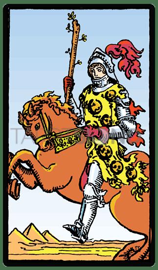 Caballero de Bastos Tarot