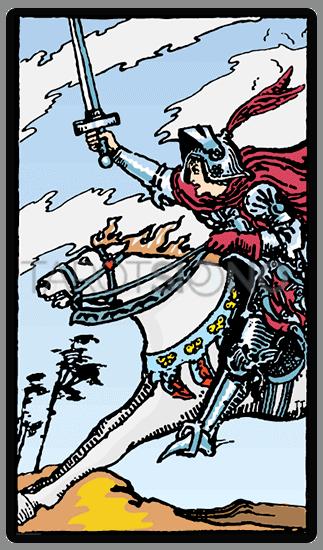Caballero de Espadas Tarot