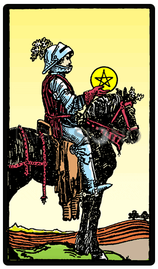 Caballero de Oros Tarot