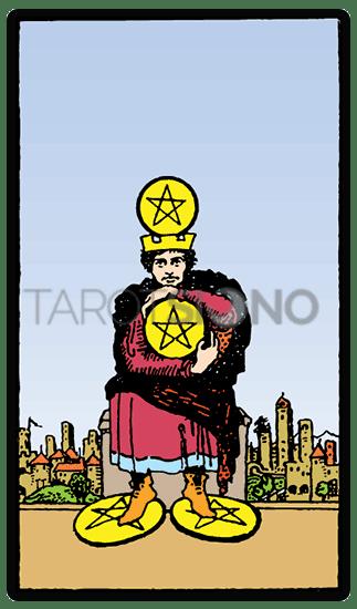 Cuatro de Oros Tarot