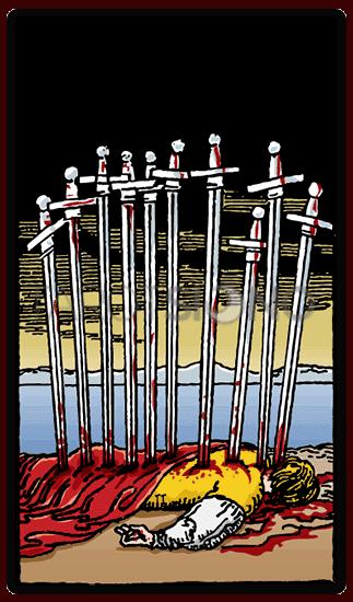 Diez de Espadas Tarot
