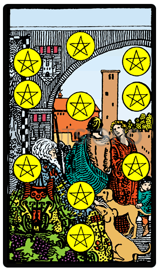 Diez de Oros Tarot