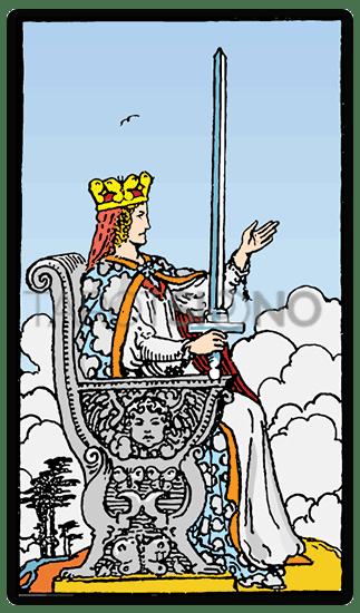 Reina de Espadas Tarot