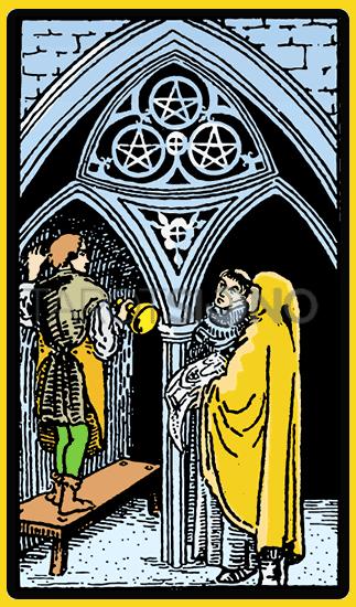 Tres de Oros Tarot